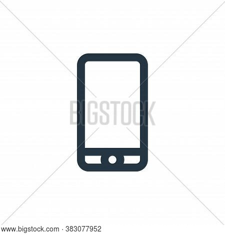 smartphone icon isolated on white background from online shop categories collection. smartphone icon