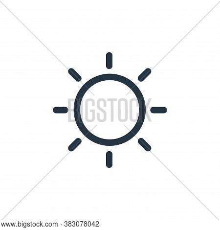 sun icon isolated on white background from miscellaneous collection. sun icon trendy and modern sun