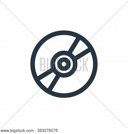 compact disk icon isolated on white background from music collection. compact disk icon trendy and m