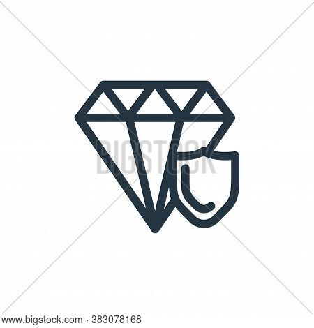 diamond icon isolated on white background from protection collection. diamond icon trendy and modern