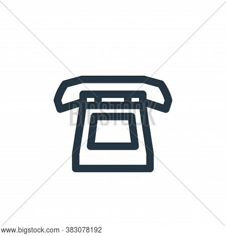 telephone icon isolated on white background from vintage collection. telephone icon trendy and moder