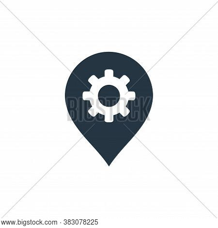 setting icon isolated on white background from maps and navigation collection. setting icon trendy a