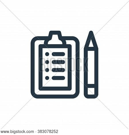 clipboard icon isolated on white background from business administration collection. clipboard icon