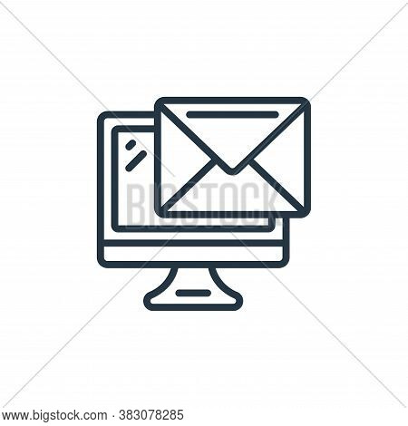 email icon isolated on white background from internet of things collection. email icon trendy and mo