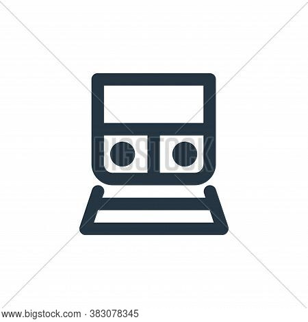 train icon isolated on white background from transportation collection. train icon trendy and modern
