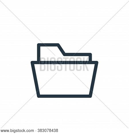 folder icon isolated on white background from business and office collection. folder icon trendy and
