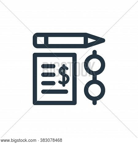 audit icon isolated on white background from business administration collection. audit icon trendy a