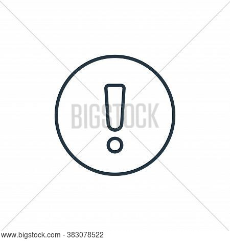 warning icon isolated on white background from general collection. warning icon trendy and modern wa