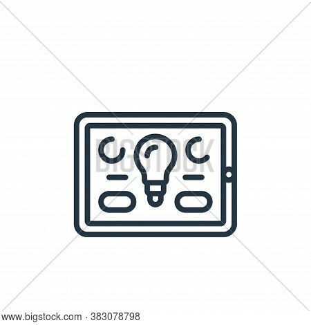 smart lighting icon isolated on white background from internet of things collection. smart lighting