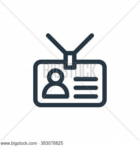 identification icon isolated on white background from business administration collection. identifica