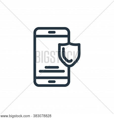 smartphone icon isolated on white background from protection collection. smartphone icon trendy and