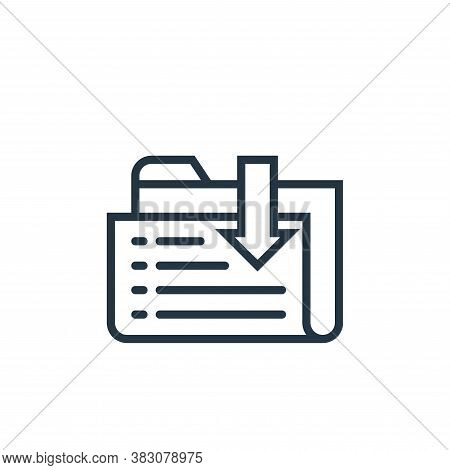 receive icon isolated on white background from business marketing collection. receive icon trendy an