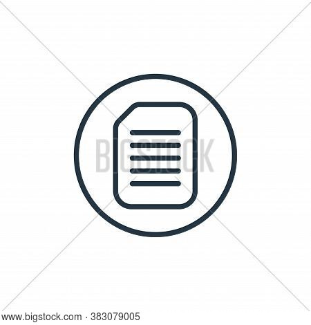 document icon isolated on white background from online learning collection. document icon trendy and