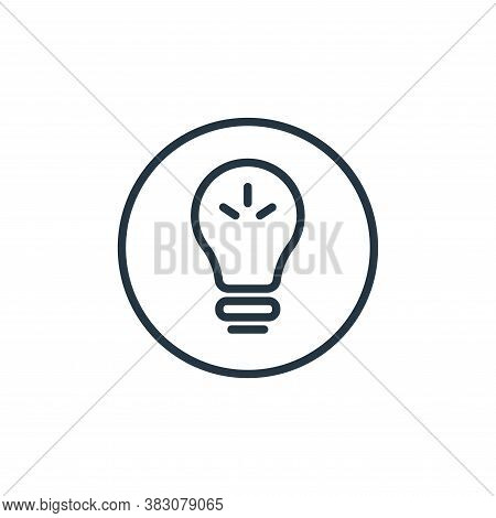 idea icon isolated on white background from online learning collection. idea icon trendy and modern