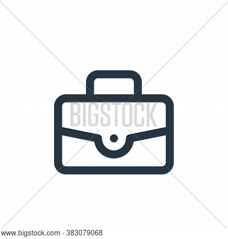 briefcase icon isolated on white background from online shop categories collection. briefcase icon t