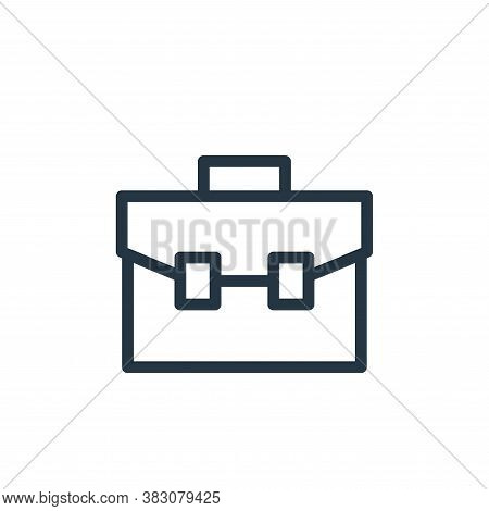 briefcase icon isolated on white background from business and office collection. briefcase icon tren