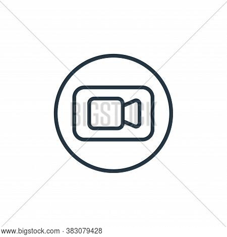 video call icon isolated on white background from online learning collection. video call icon trendy