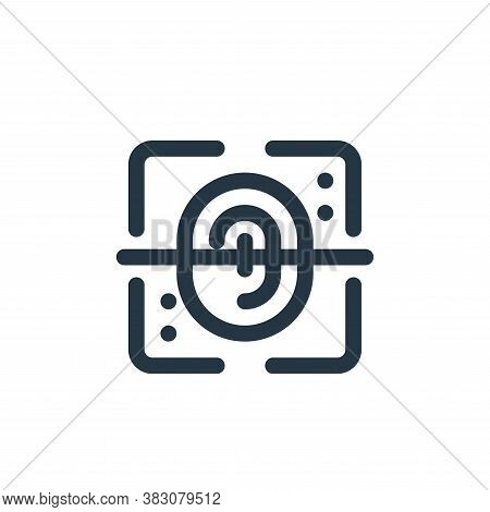 fingerprint scan icon isolated on white background from fintech collection. fingerprint scan icon tr