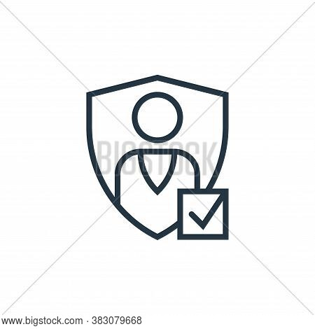authentication icon isolated on white background from business marketing collection. authentication