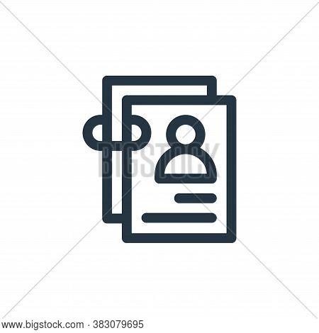 candidate icon isolated on white background from business administration collection. candidate icon