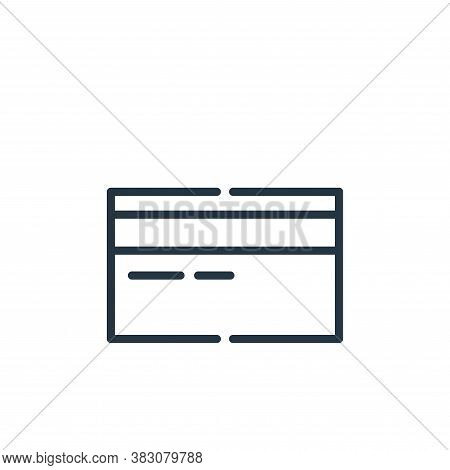 debit card icon isolated on white background from cyber monday collection. debit card icon trendy an