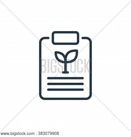 clipboard icon isolated on white background from ecology line collection. clipboard icon trendy and