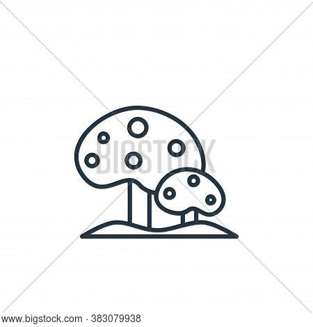 mushrooms icon isolated on white background from spring collection. mushrooms icon trendy and modern