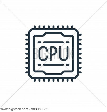 cpu icon isolated on white background from internet of things collection. cpu icon trendy and modern