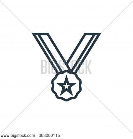 medal icon isolated on white background from business marketing collection. medal icon trendy and mo