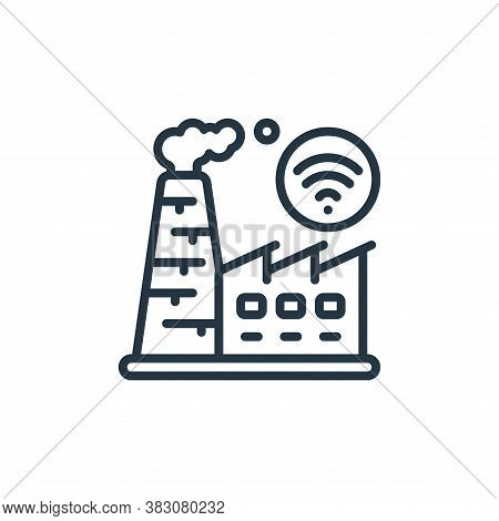 factory icon isolated on white background from internet of things collection. factory icon trendy an