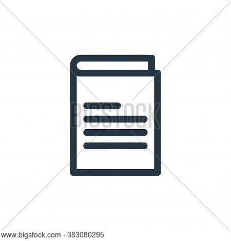 notebook icon isolated on white background from miscellaneous collection. notebook icon trendy and m