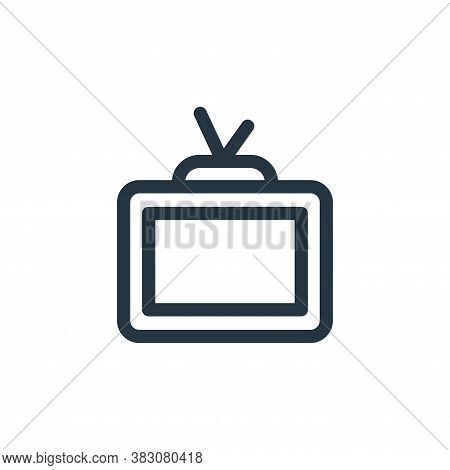 tv monitor icon isolated on white background from miscellaneous collection. tv monitor icon trendy a