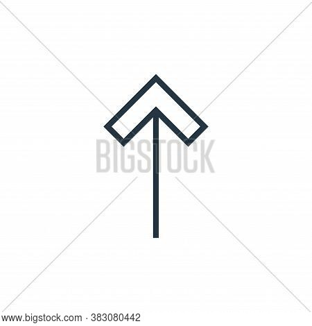 up arrow icon isolated on white background from arrows collection. up arrow icon trendy and modern u