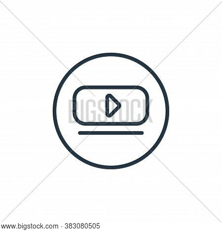 video player icon isolated on white background from online learning collection. video player icon tr
