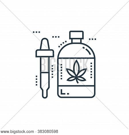 herbalism icon isolated on white background from cells organs and medical cannabis collection. herba