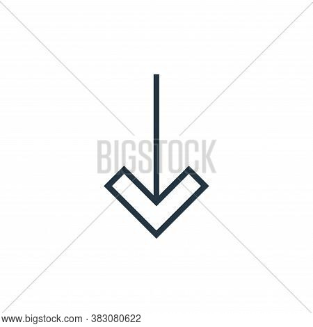 down arrow icon isolated on white background from arrows collection. down arrow icon trendy and mode