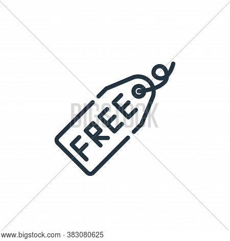 free icon isolated on white background from cyber monday collection. free icon trendy and modern fre