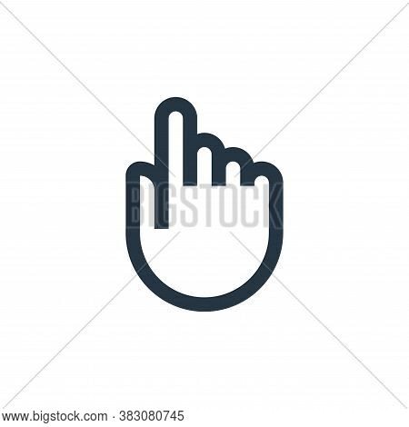 touch icon isolated on white background from interaction collection. touch icon trendy and modern to