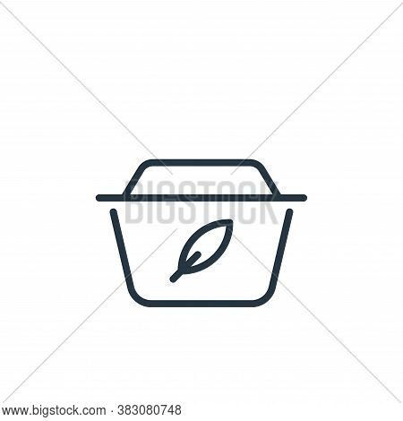 garbage icon isolated on white background from ecology line collection. garbage icon trendy and mode