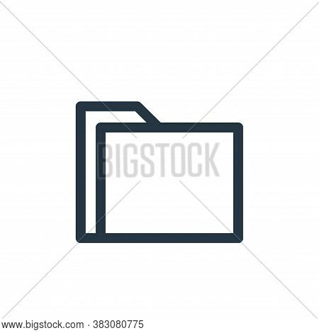 folder icon isolated on white background from miscellaneous collection. folder icon trendy and moder