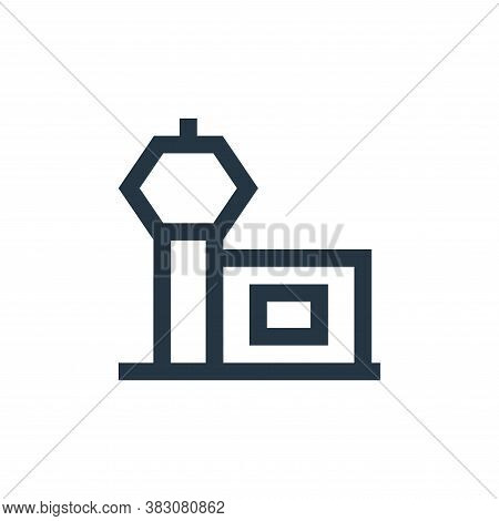 airport icon isolated on white background from property collection. airport icon trendy and modern a