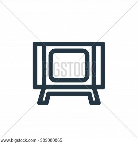 television icon isolated on white background from vintage collection. television icon trendy and mod