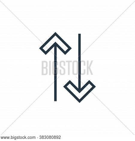 arrows icon isolated on white background from arrows collection. arrows icon trendy and modern arrow