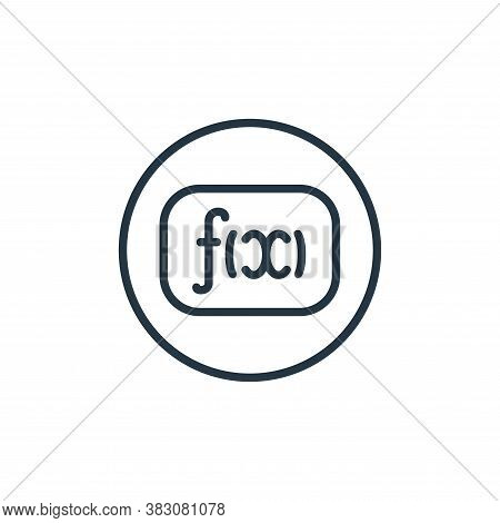 math icon isolated on white background from online learning collection. math icon trendy and modern