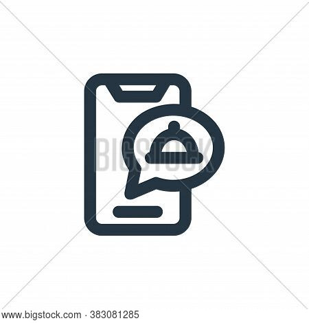 order food icon isolated on white background from restaurant collection. order food icon trendy and
