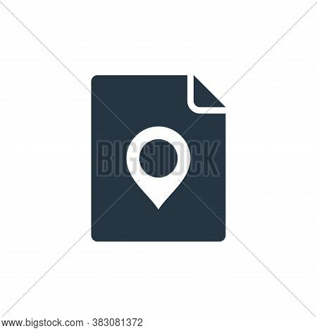 document icon isolated on white background from maps and navigation collection. document icon trendy
