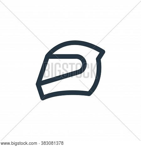 Racing Helmet icon isolated on white background from online shop categories collection. Racing Helme