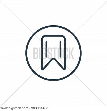 bookmark icon isolated on white background from online learning collection. bookmark icon trendy and