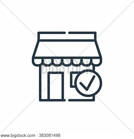 official store icon isolated on white background from cyber monday collection. official store icon t