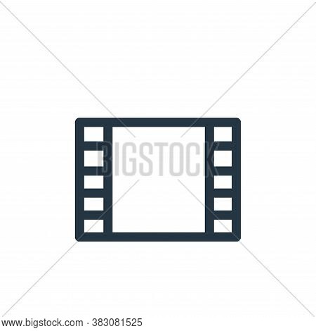 photographic film icon isolated on white background from miscellaneous collection. photographic film
